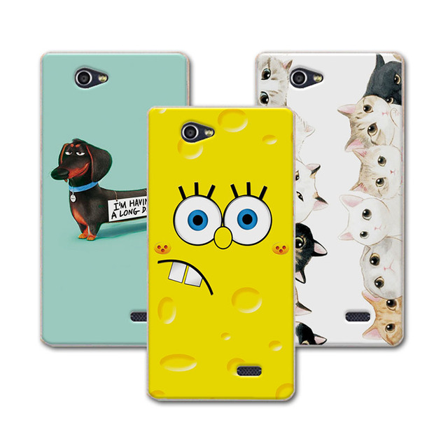 """ZTE A465 5.0""""Soft Silicone Case Cover ZTE Blade A465 Case Bear Cartoon Painting Protector FOR ZTE Blade A465 Case+Free Pen"""