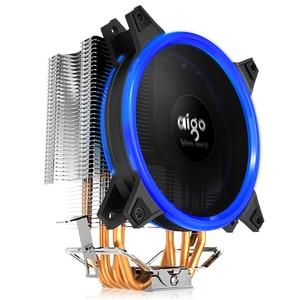 Image 3 - AIGO E3 4 Heatpipes מעבד למעבד עבור AMD אינטל 775 1150 1151 1155 1156 מעבד רדיאטור 120mm 4pin קירור מעבד מאוורר מחשב שקט