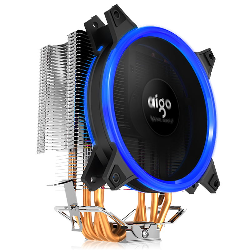 Image 3 - AIGO E3 4 Heatpipes CPU cooler for AMD Intel 775 1150 1151 1155 1156 CPU radiator 120mm 4pin cooling CPU fan PC quiet-in Fans & Cooling from Computer & Office