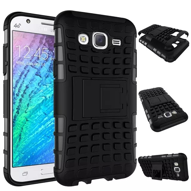 newest fa901 2db1a US $4.99 |Shockproof Armor Case For Samsung Galaxy J5 Cases Dual Layer Grip  Defender Heavy Duty Combo Hybrid Mobile Phone cover+kickstand on ...