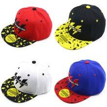 Korean Fashion Children Hip Hop Hat Baseball Caps Handsome Design Lightning Totem Adjustable Hats For Kids Boys Girls