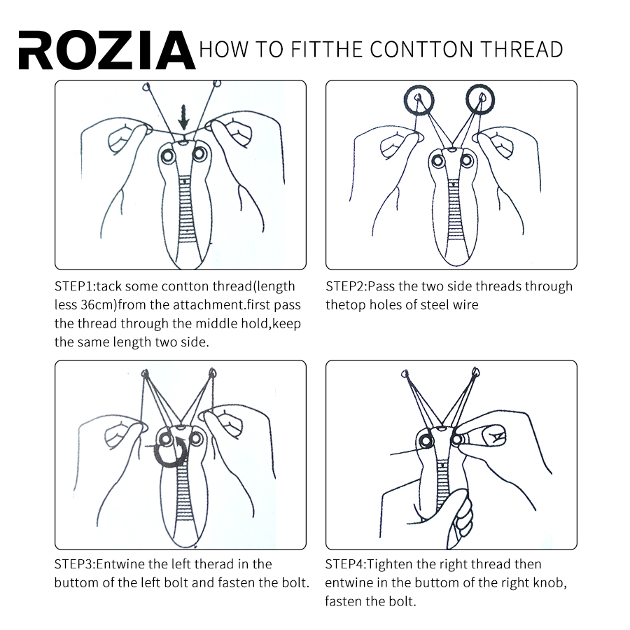Image 2 - ROZIA Professional Epilator Electric Female Body Face Facial Hair Remover Cotton Thread DepilatorEpilators   -
