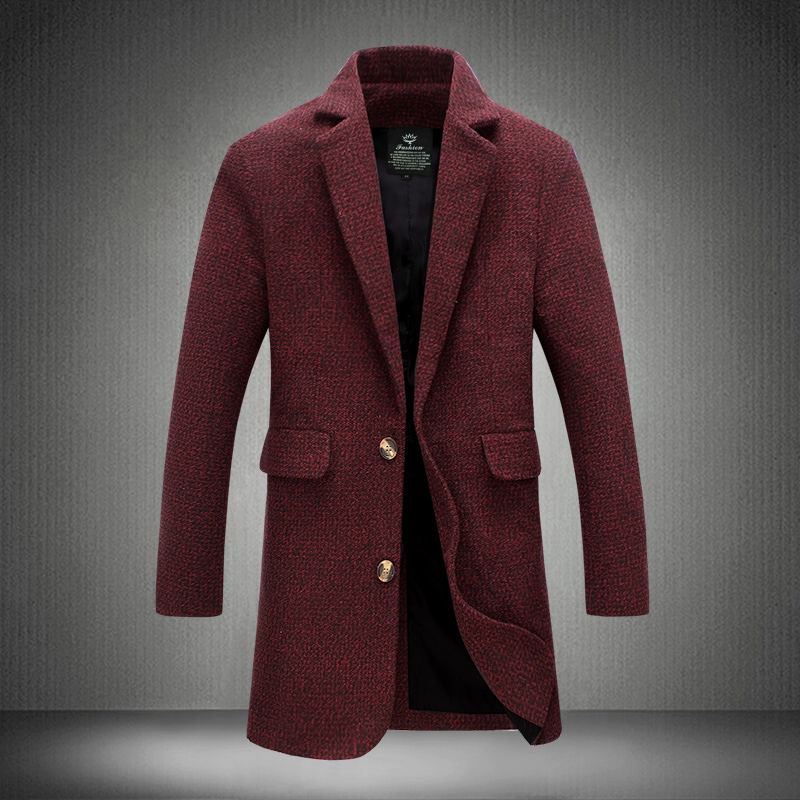 Mens Red Long Coat Promotion-Shop for Promotional Mens Red Long ...