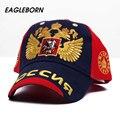 Eagleborn exportación ruso halcón de doble cabeza de oro gorra de béisbol masculino femenino casquillo al aire libre deportes ocio snapback 4 estaciones cap