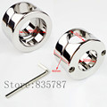 Stainless Steel Ball Stretchers Cock Locking Device Testicular Restraint Penis Ring  F103