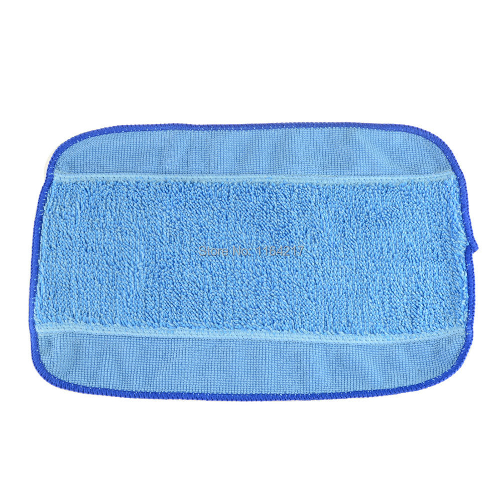 3pcs/Lot Blue Wet Microfiber Mopping Cloths for iRobot Braava 380 380t 320 Mint 4200 4205 5200 5200C Robot replacement blue wet microfiber mopping cloths for irobot braava 380 380t 320 mint 4200 4205 5200 5200c floor mopping robot