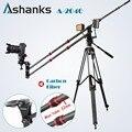 Ashanks fibra de carbono guindaste portátil pro dslr camera vídeo guindaste jib arm standard version + bolsa frete grátis