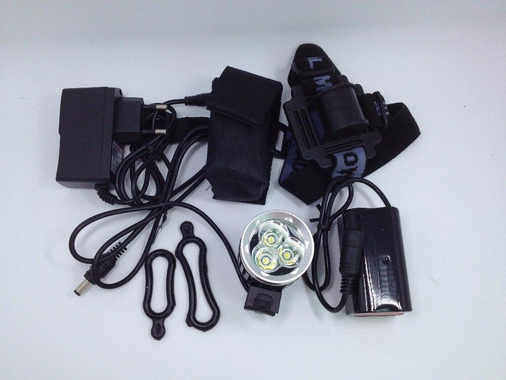 Цена за 3800 Люмен XM L 3 * T6 СВЕТОДИОДНЫЙ Свет Велосипед Свет Фар + Батарея 6400 мАч и Зарядное Устройство