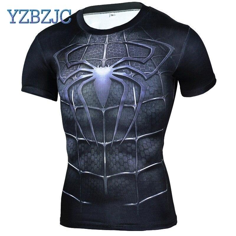 69f080113b28 New Fitness Compression Shirt Men Anime Superhero Punisher Skull Captain  Americ 3D T Shirt Bodybuilding Crossfit tshirt