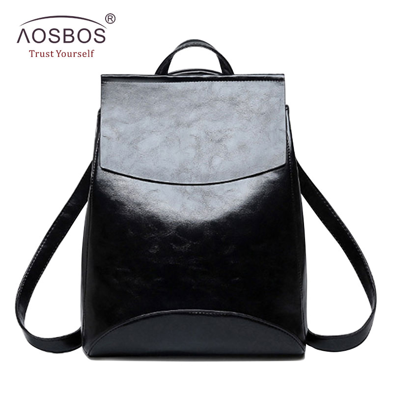 0d9cebc2b300 2019 Aosbos Fashion Women Backpack High Quality Youth PU Leather School  Shoulder Bag for Teenage Girls
