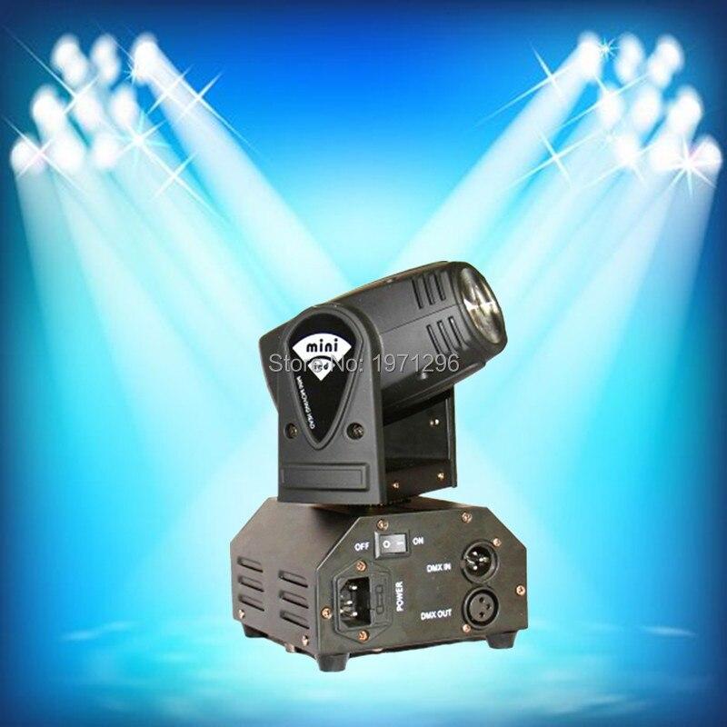 ФОТО 2pcs/lot  10W LED Stage DJ Lighting Moving Head DMX 512 Light Beam For Party Light High Quality Disco Effect Light