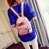 Lovely PU Leather Pocket Girl Backpacks Fashion Bag Daffodils Rivets Women Bag School Girl Backpack LXX9