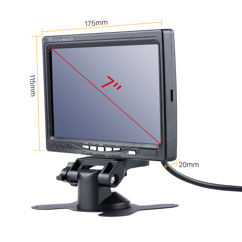 Seicane 1024*600 TFT LCD Universal 7 inch Car Auto Parking Monitor Backup Camera DVR Digital Video Recoder