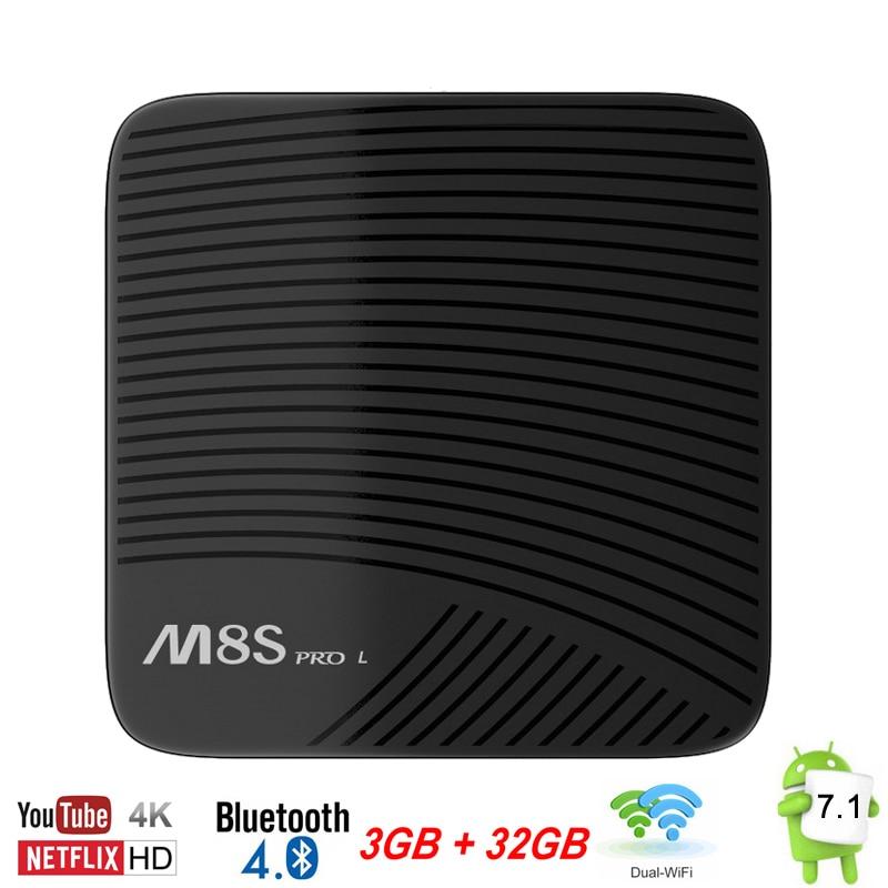 US $129 34 |TV Box Android 7 1 3GB 32GB 3G/16G Mecool M8S Pro L Smart Mini  PC Amlogic S912 Octa Core 64bit 4K Wifi Bluetooth Set Top Box -in Set-top