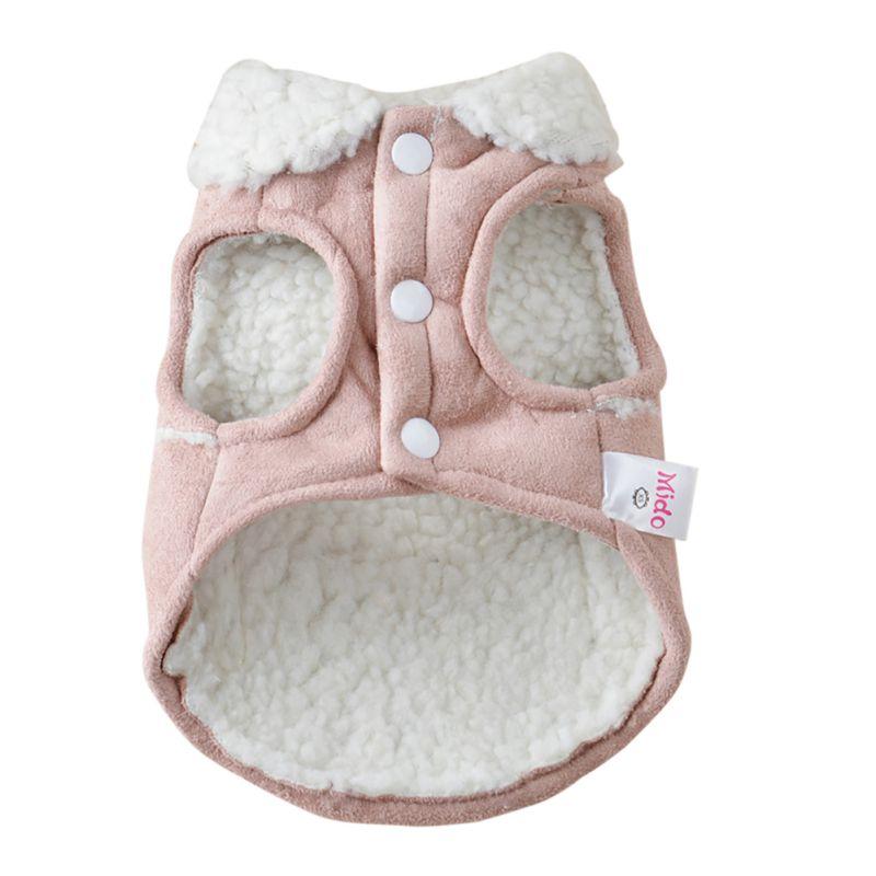 Pet Dog Cat Vinter Kläder Coat Apparel Puppy Warm Motorcykelväst - Produkter för djur