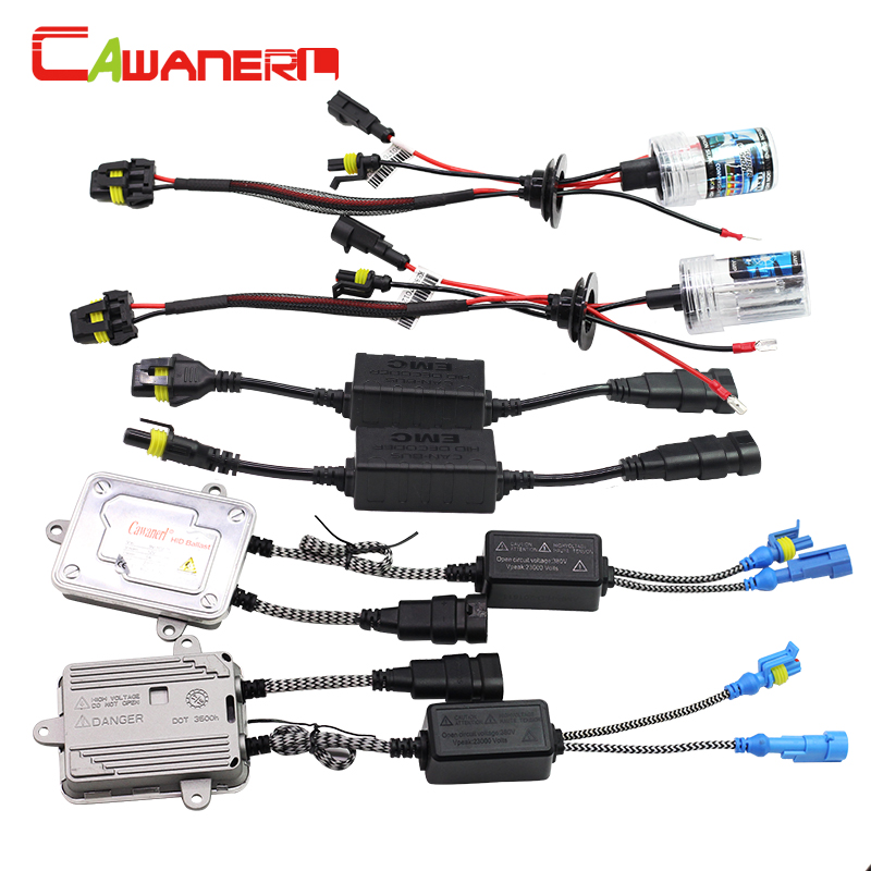 Cawanerl 9005 9006 H1 H3 H7 H8 H9 H11 55W Canbus HID Xenon Kit 4300K AC Ballast Lamp Decoder Anti Flicker Car Light Headlight buildreamen2 9006 hb4 55w no error hid xenon kit 3000k 8000k ac ballast bulb canbus decoder anti flicker car headlight fog light