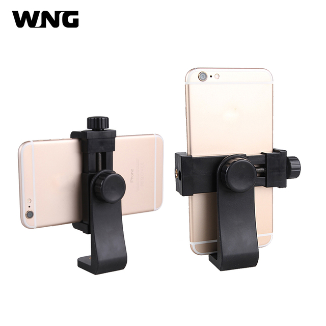 Universal Smartphone Tripod Mount Adapter Phone Clipper Holder 360 Rotation Vertical Horizontal Tripod Stand for iPhone Samsung