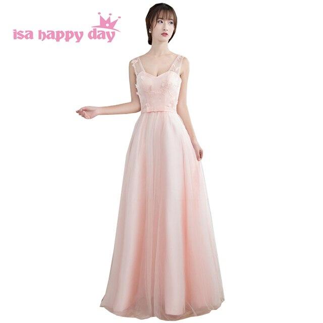 Vestidos formales damen schöne ballkleid rosa lange korean ...
