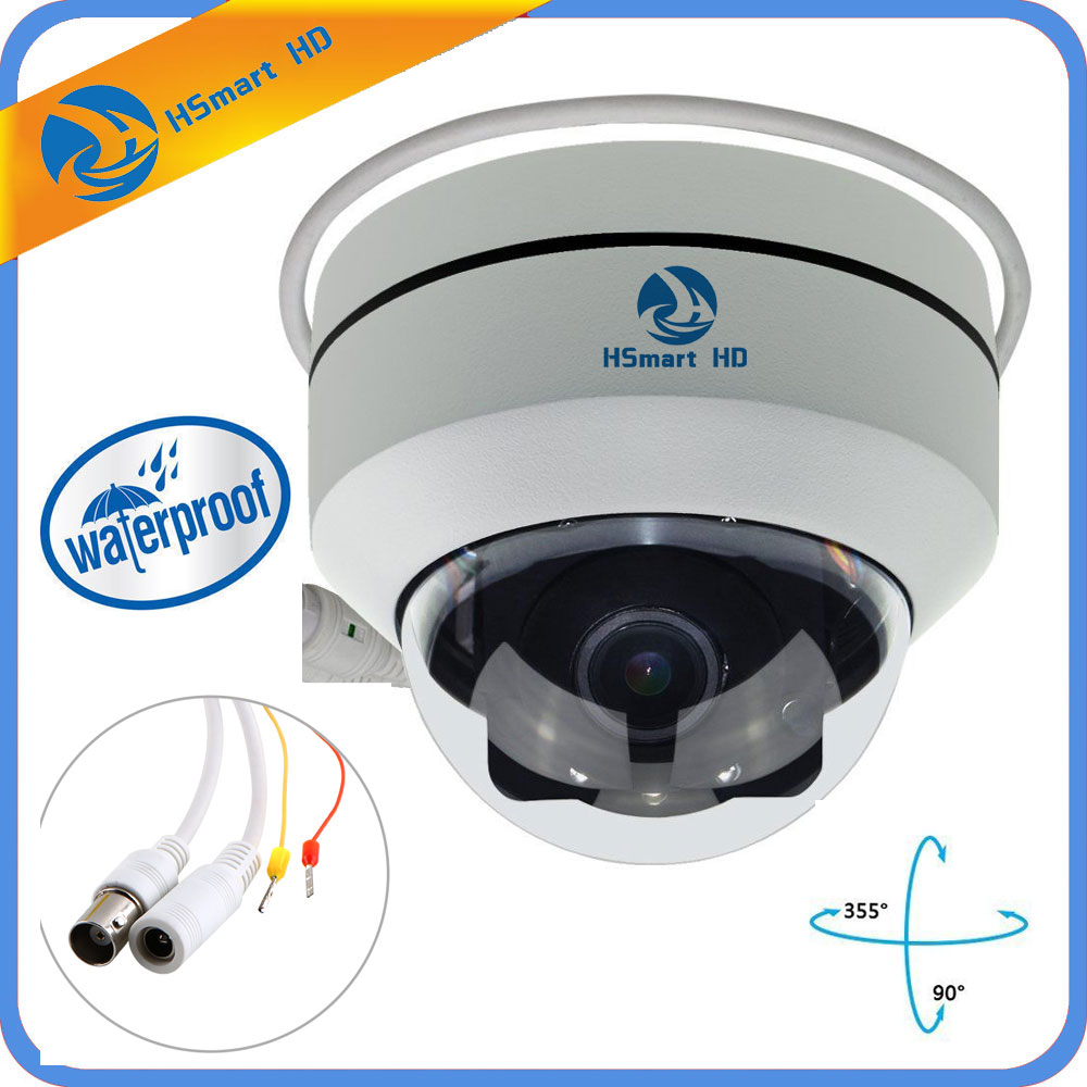 Mini PTZ Caméra Dôme AHD1080P Full HD 4 DANS 1 3X Zoom H.264 30 m IR Vision Nocturne Imperméable À L'eau 2.0MP en plein air Dôme TVI CVI PTZ Caméras