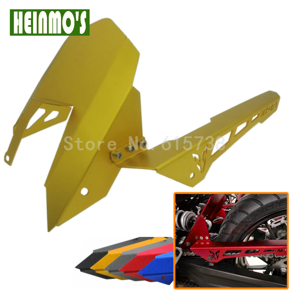 New Motorcycle MT07 CNC Aluminum Rear Fender and Chain Cover For Yamaha MT07 MT-09 MT 09 2013-2015 2013 2014 2015 Universal motoo cnc aluminum rear tire hugger fender mudguard chain guard cover for yamaha mt07 mt 07 2013 2017 fz07 2015 2017