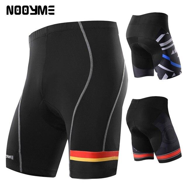 Pantalones cortos de ciclismo para hombre NOOYME básicos a prueba de golpes  3D acolchado deporte bicicleta 573434f24d618