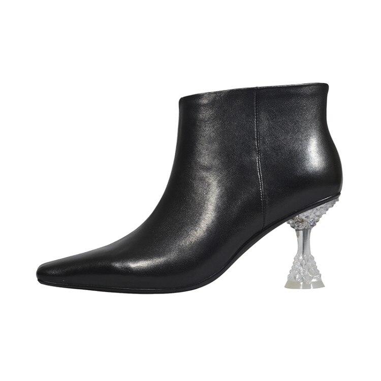 Cuir Femmes Picture Véritable Carré Mujer Picture Nouveau Talons Populaire En Cristal Cm Bout Robe Zapatos Gentil as Chaussures Bottines Étranges Si As 7 n8wvmN0
