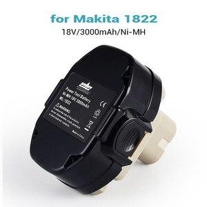 Image 4 - ELEOPTION 2 Pacote/lote 18 18V 3000mAh Ni MH Bateria de Substituição para Makita 1822 V 1823 1834 1835 192827 192829 9 3 193159 1
