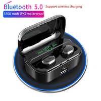 3500 mAh TWS Drahtlose Kopfhörer Bluetooth 5,0 Kopfhörer Led Power Display CVC8.0 DSP noise reduktion Sport Headset Power bank