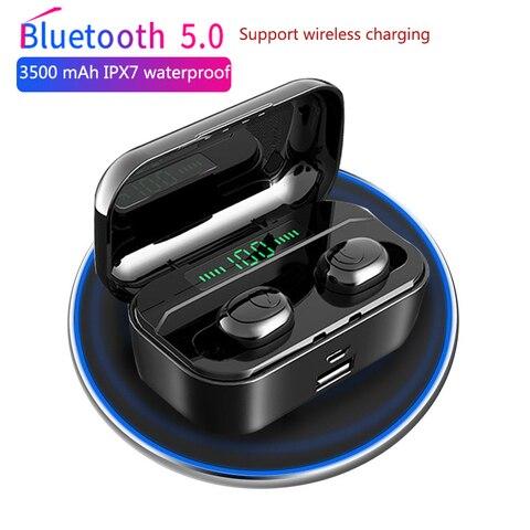 3500 mAh TWS Wireless Earphone Bluetooth 5.0 Earphones Led Power Display CVC8.0 DSP noise reduction Sport Headset Power bank Pakistan