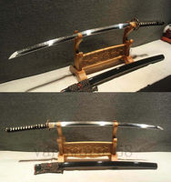 HIGH QUALITY T10 CLAY TEMPRED JAPANESE KATANA SAMURAI REAL SWORD SHARP.