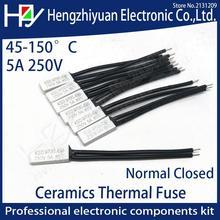 цена на Hzy KSD9700 250V 5A 10a Plastic Fuses Bimetal Disc Temperature Switch N/C Thermostat Thermal Protector 45~140C Degree Centigrade
