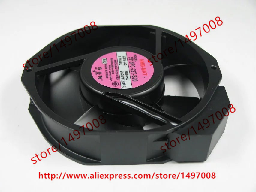 NMB-MAT 5915PC-22T-B20 B30 AC 220V 50/60Hz 23/26W 172x172x38mm Server Round Fan nmb mat new 5915pc 20w b30 b00 ac 200v 34w 172x150x38mm server round fan