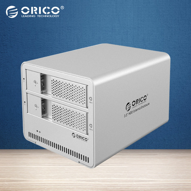 ORICO 9528U3-SV 2-bay USB3.0 De Aluminio de 3.5 ''SATA HDD Recinto Externo Soporte 2*8 TB De Almacenamiento