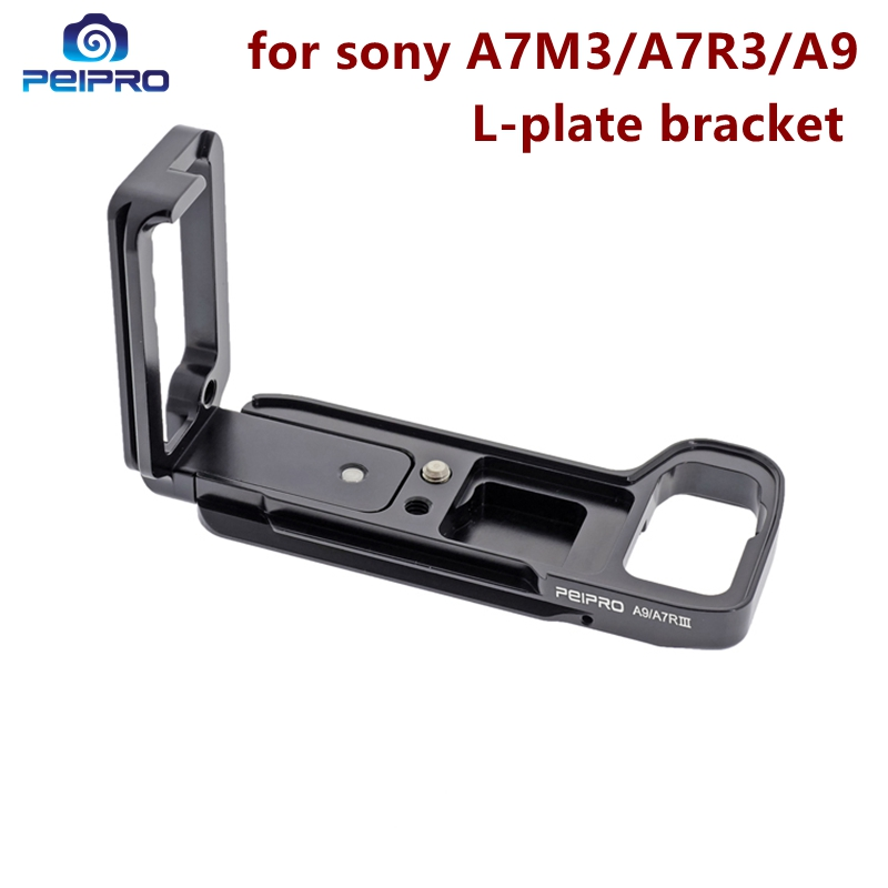 peipro Aviation alloy aluminum quick Release L plate bracket camera Hand Grip for A7M3 A7R3 A9
