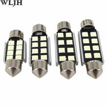 6pcs CANbus 31mm 36mm 39mm 41mm C5W C10W 2835 Chip 8 SMD 12V Car Led Light Bulb Festoon Dome Lights License Lamps Warranty