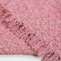 150 см шириной 560 г/м Вес сладкий розовый вязаный шерсть, акрил, полиэстер Ткань для Осень и весна платье пальто куртка e557
