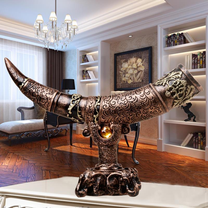 Imitation ivory Home decor decoration crafts bar hotel office TV cabinet wine cabinet living room statue