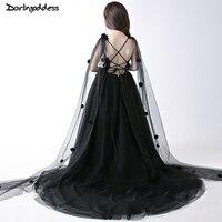פרח שחור יוקרה שמלות ילדה לחתונות שמלות הקודש ראשון עבור בנות סקסית ללא משענת נצנצים תחרות שמלה לנשף