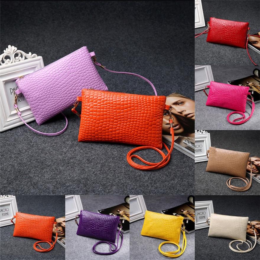 Women Girl Famous Brand Fashion Purse Leather Crocodile Patten Women Leather Messenger Bags Mini Crossbody Shoulder Bag Bolsa S