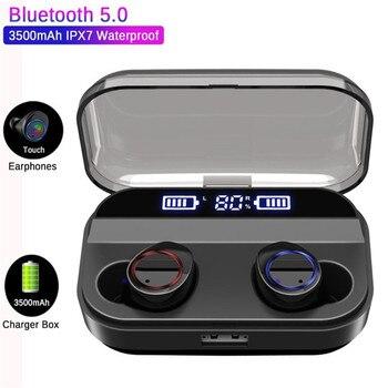 YULUBU X11 TWS Wireless Earphone Bluetooth 5.0 Power Display Touch Control Sport Waterproof Earbuds Headset 4000mAh Charging Box