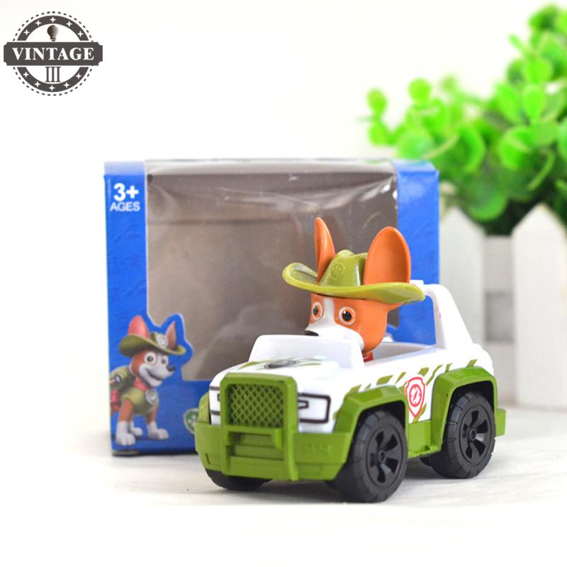 New Car Tracker Toys Puppy dog for kid gift Patrulla Canina Action figures Patrulla Canine Skye Anime Vehicle Car Spain 20pcs 1lot petshop cartoon pet shop patrulla canina toys action figure toy 778 minifigure christmas gift to kids