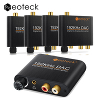 5 Stks Digitale Naar Analoge Converter R/L Audio Versterker Chip 192 kHz 24bit Toslink Opticail Coaxiale Naar RCA 3.5mm Jack Audio Adapter