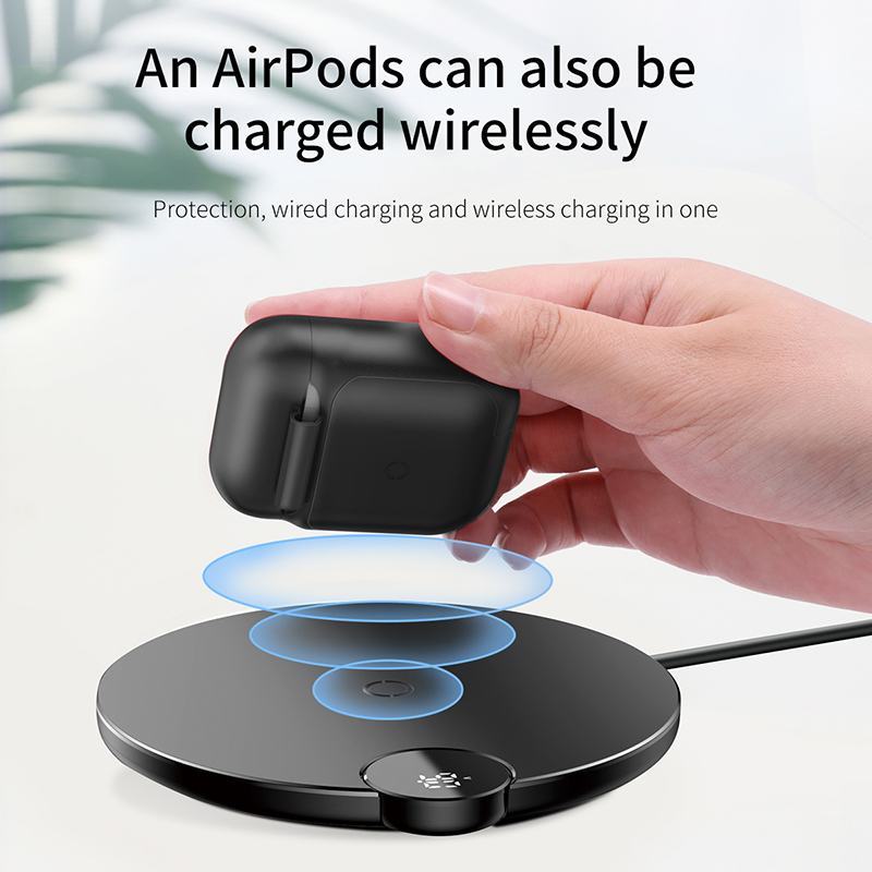 Apple AirPods Wireless Charging case - QI Wireless Charging for Apple Airpods 2