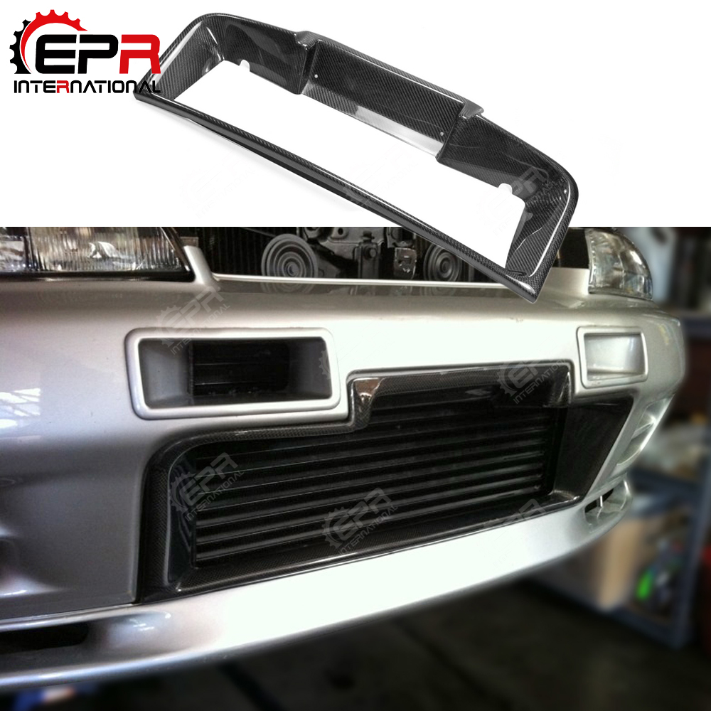 For Nissan R32 GTR Tuning Cold Air Intake Vent Carbon Fiber Front Bumper Intercooler Surround Duct