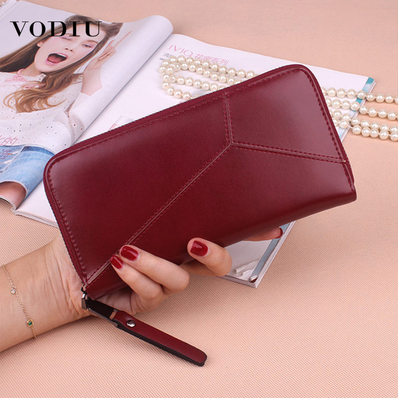 Women Wallet Female Purse Geometric Clutch  Wallets Phone Pocket Purse Card Holder Long Wallet Womens Fashion Short Coin Wallets