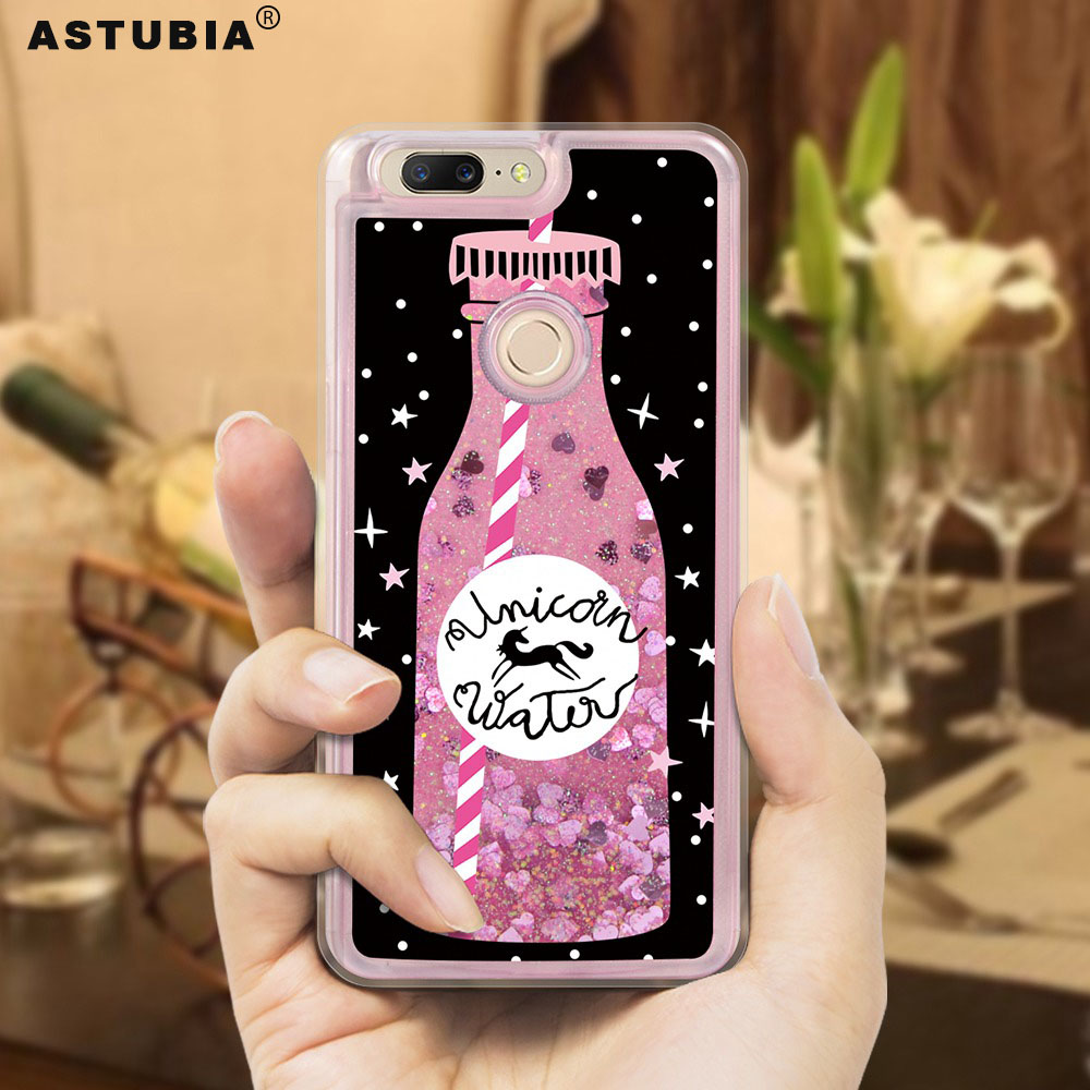 ASTUBIA Glitter Liquid Case For OnePlus 6 Case For OnePlus 5T Cover Soft Pink Coque For OnePlus 5 T Case For OnePlus 5 T 6 A5010