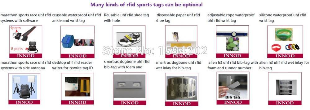 many kinds of rfid sports tags can be optional