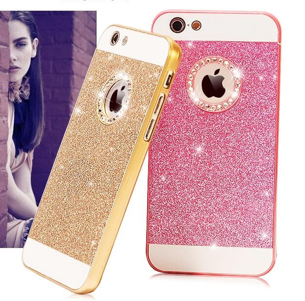 69968a336 Luxury Cell Phone Case Bling Diamond Sparkle Glitter Protective Cover For iPhone  5S 6S 6 Plus-in Fitted Cases from Cellphones & Telecommunications on ...