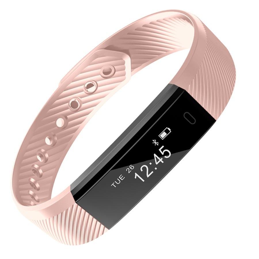 942dcf5084f3 ID115 pulsera inteligente rastreador de Fitness podómetro Bluetooth  Smartband pulsera deportiva Veryfit APP reloj despertador pk mi Band 2 3