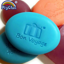 Bon Voyage Handmade Soap Making Stamp NEW Bag Pattern Clear Diy Natural Organic Stamps Glass Seal Acrylic Chapter Tools0325